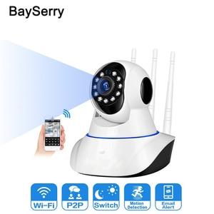 Беспроводная IP-камера 1080p для помещений, система видеонаблюдения, ИК Ночное Видение, для дома/офиса/ребенка/няни/питомца