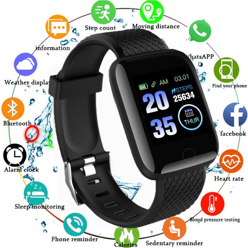 Smart Watch Bluetooth 4.2 Heart Rate Oxygen Blood Pressure Bracelet Sport Fitness Tracker IP67 Waterproof Pedometers