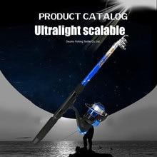 Fishing Rod Pole Reel Wheel Hook Kit Portable Tackle Accessories Telescopic for Sea SEC88