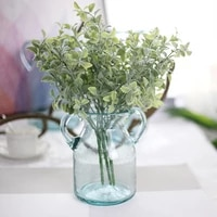 emulation grass faux green grass simulation artificial plants with pots for home wedding birthday party decoration