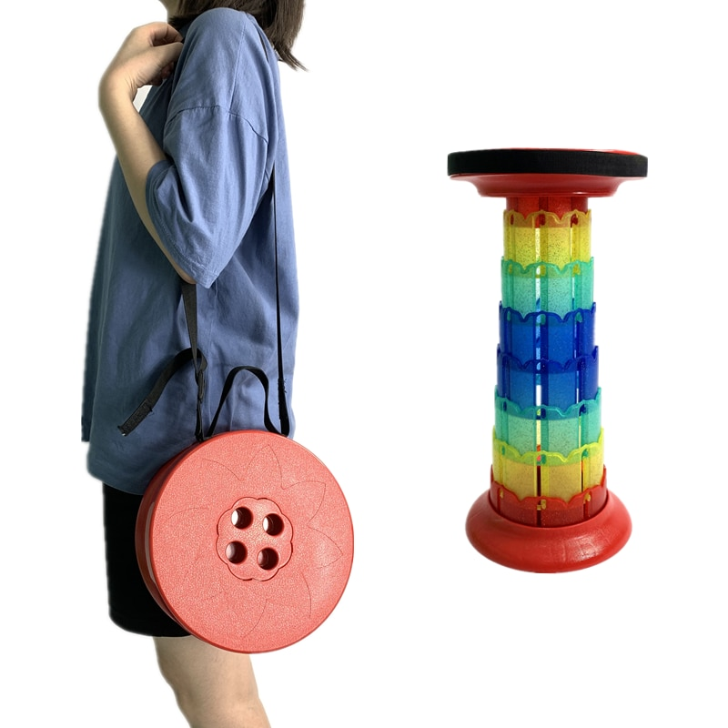 Upgrade 6.0 Retractable Folding Stools Portable Telescopic Stool for Outdoor Camping, Fishing, Beach, Hunting, Golfing and Rest