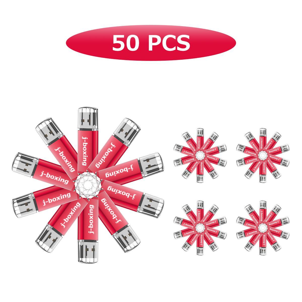 J-boxing Bulk 50PCS 8 GB USB Flash Stick Thumb Pen Drive Rectangle Flash Memory Stick for PC Laptop Tablet USB Device 8 Colours enlarge