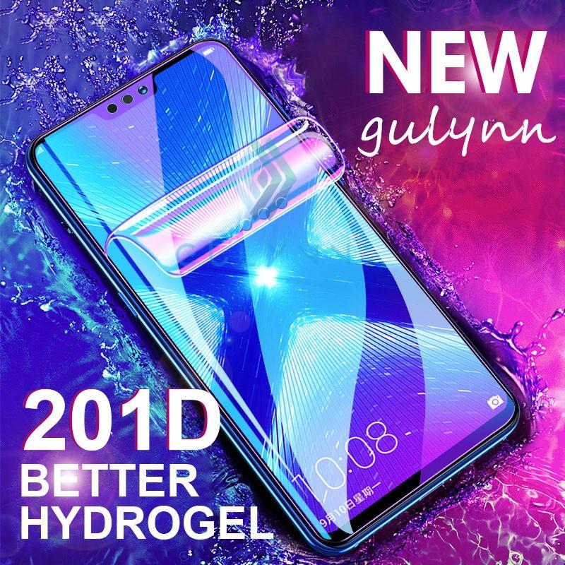 Hydrogel 201D curvado película suave para Huawei Honor 8X 9X 9XPro 10 20 Lite Pro Mate 30 P30 Pro Anti luz azul película protectora de pantalla