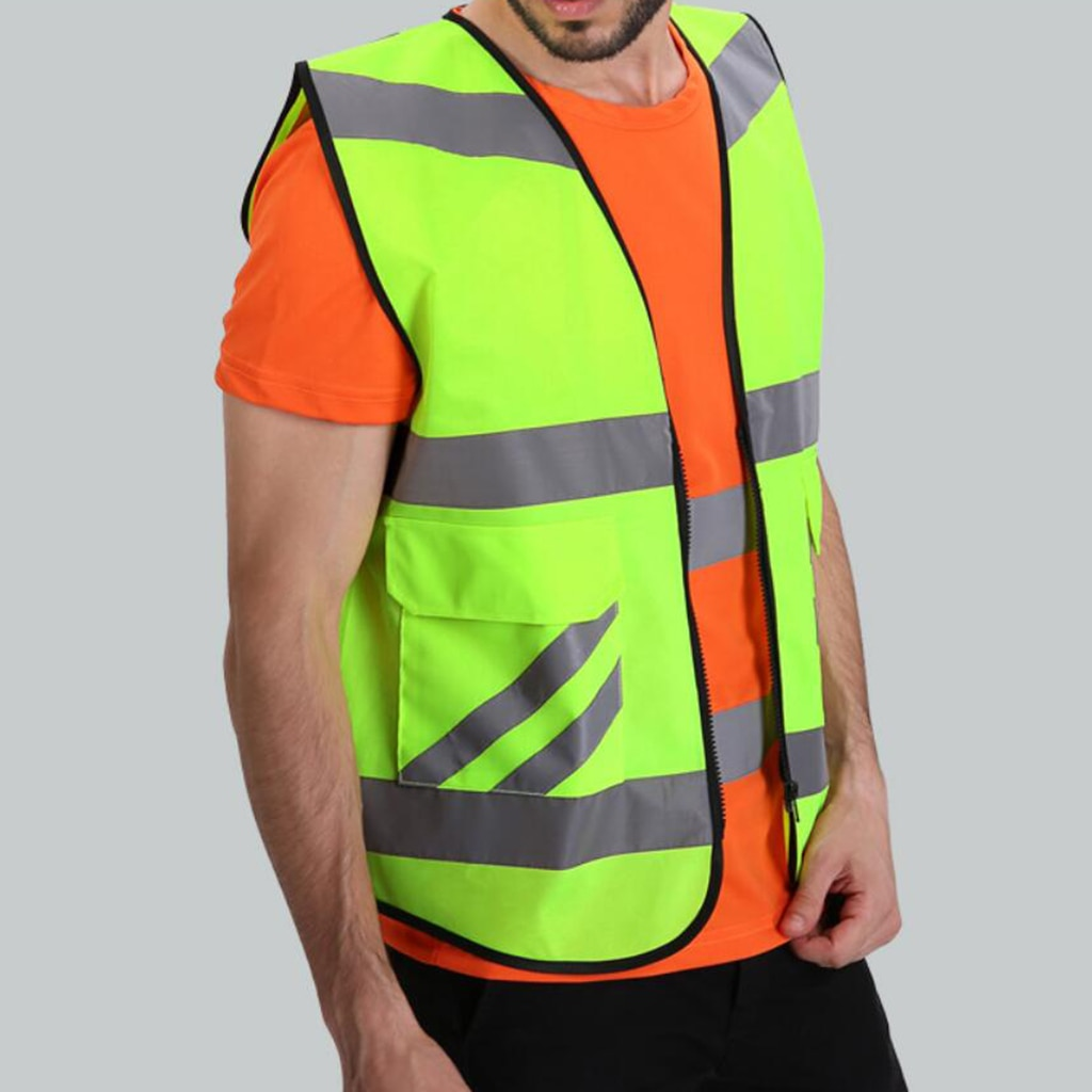2 Pocket Safety Vest, Highly Visibility Breathable Vest Style-A
