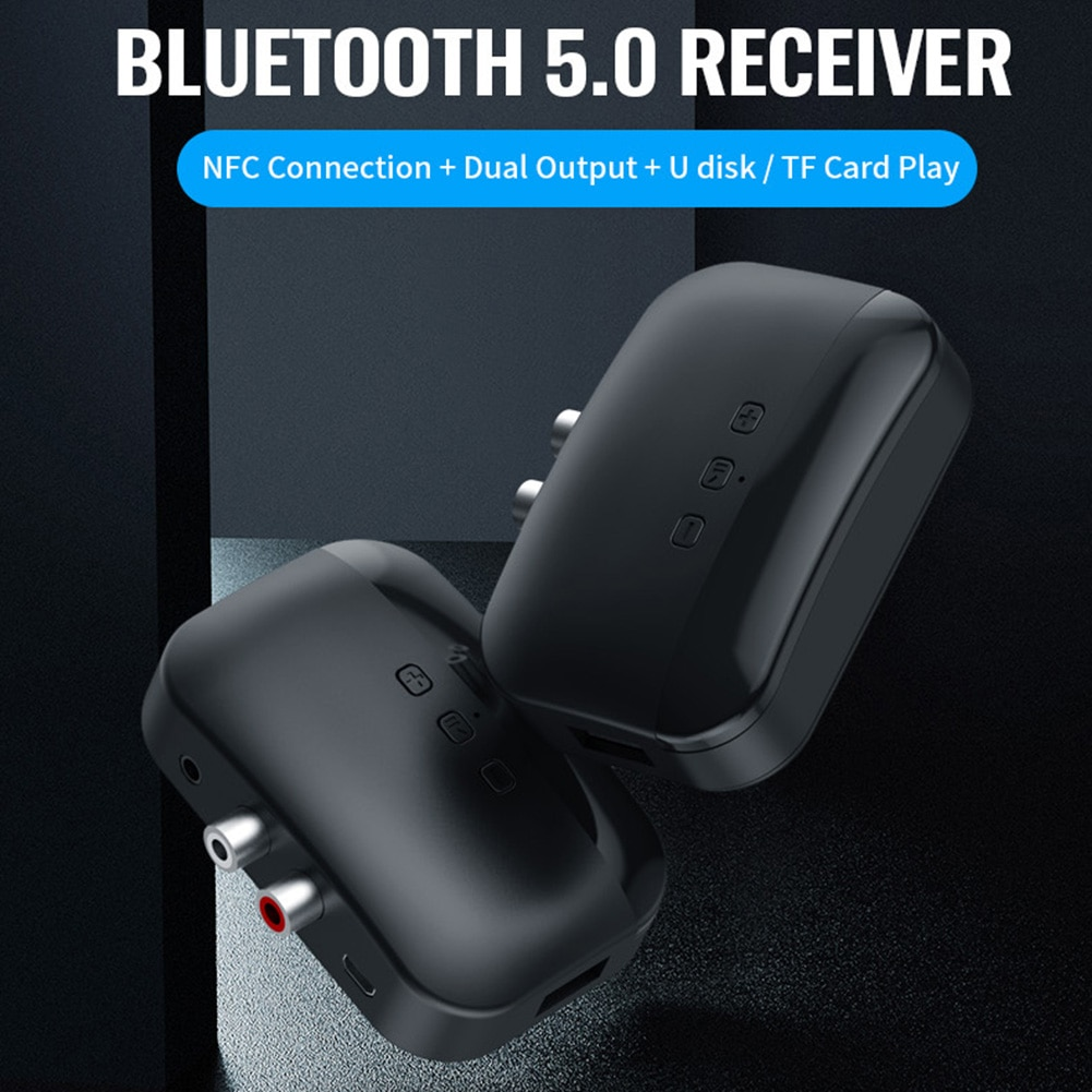 NFC Bluetooth Empfänger 2RCA Adapter Musik Audio Dongle BLS-B20 3,5mm AUX Stereo Elemente Persönliche Auto Teil Ornamente