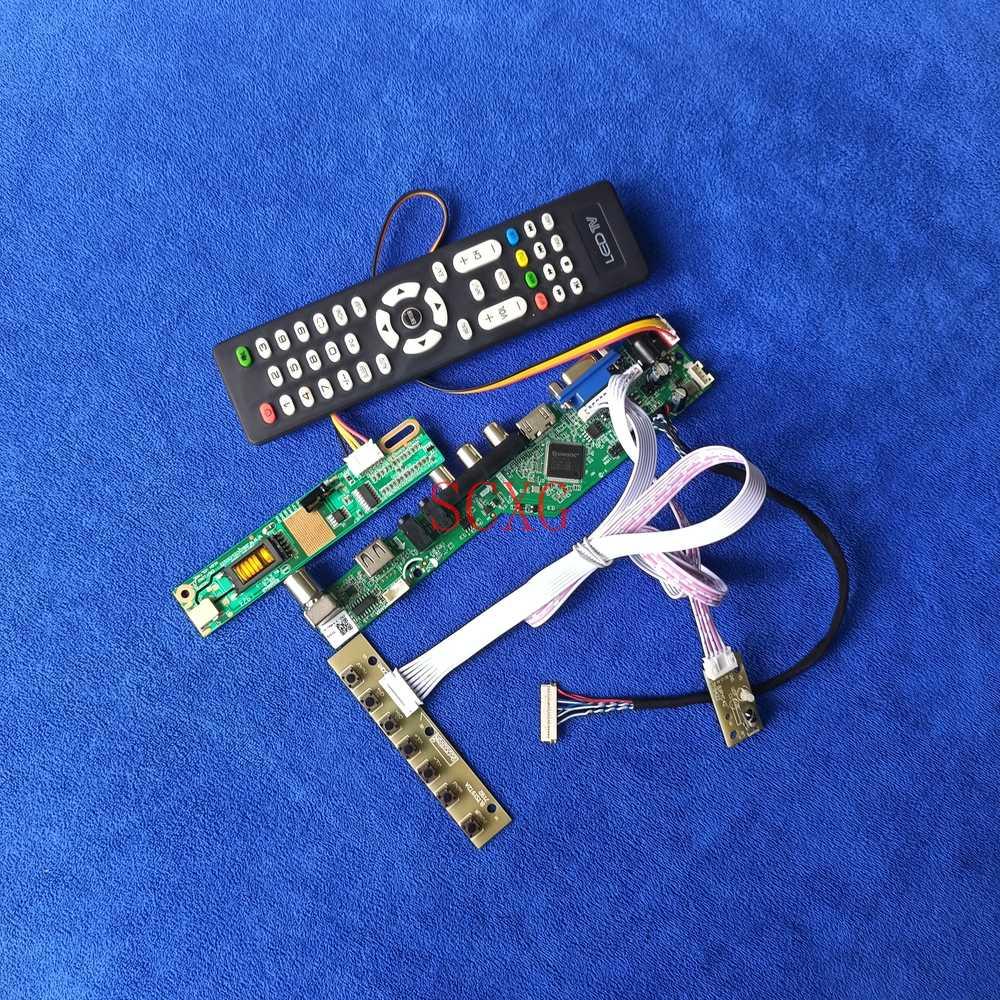 VGA USB HDMI متوافق LVDS 20 دبوس kitمراقب لوحة للقيادة ل LQ141X1LH01/LQ141X1LH42/LQ141X1LH43 إشارة التناظرية 1024*768 1CCFL