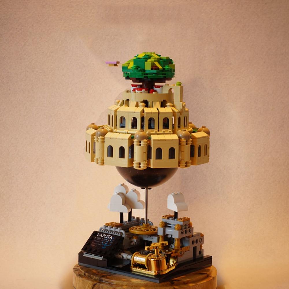 Creator Expert Ideas Castle In The Sky Building Blocks Moc Laputa Bricks Modular Bricks Music Box Mo