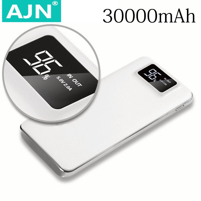 30000 мАч Внешний аккумулятор для Xiaomi Mi 2 USB портативное зарядное устройство Внешняя батарея повербанк для iPhone 8 X XS Samsung Huawei