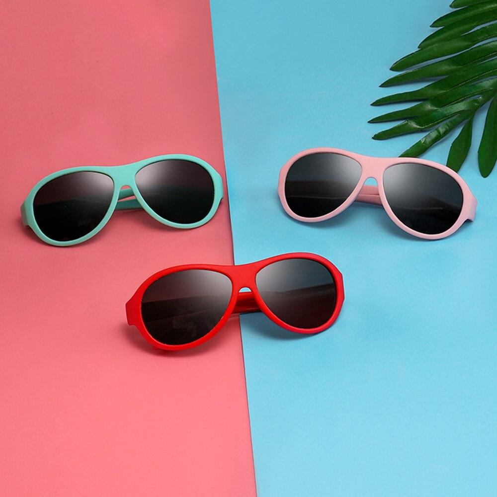 Cute Children Polarized Sunglasses Kids Sun Glasses Retro Silicone Girls Boys Glasses Uv400 Safety E