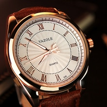 Klassieke Mannen Horloges Yazole Lederen Band Quartz Horloge Mannen Klok Fashion Casual Sport Mannelijke Horloge Montre Homme Reloj Hombre