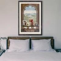 Peinture retro de Style russe RE115  affiche publicitaire commerciale personnalisee en soie  decoration murale  cadeau de noel  120