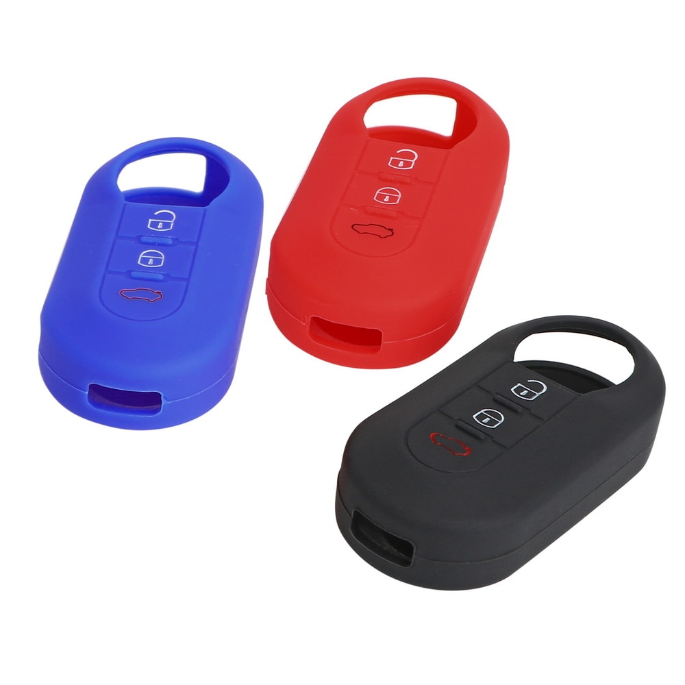 Funda de silicona con tapa para llave de coche, protección para llaves,...