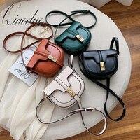 Qiaoduo Fashion Crossbody Bag For Women Saddle Bags PU Leather Shoulder Crossbody Bags Semi-circle Handbags Design Bag