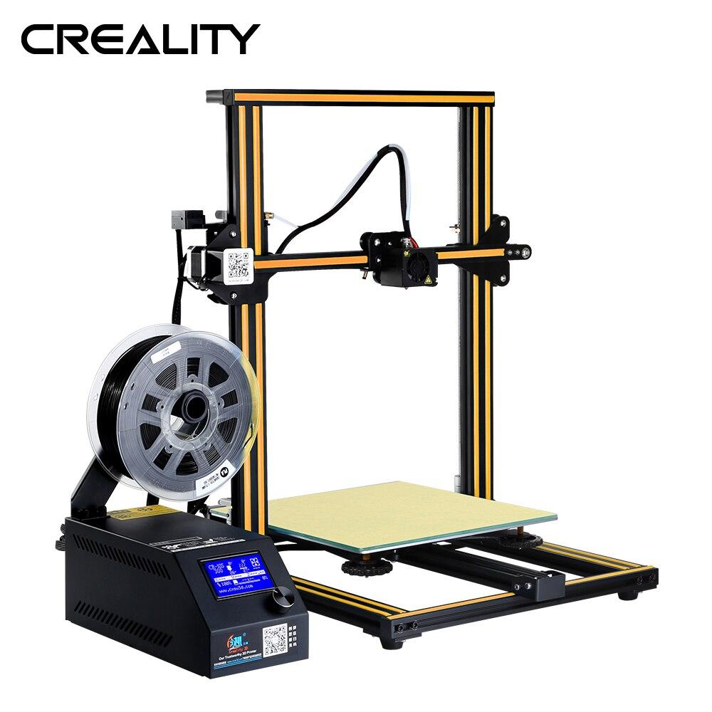 Original de impresión de gran tamaño CREALITY CR-10 3D impresora de Metal completo Kit de bricolaje con 200G de PLA