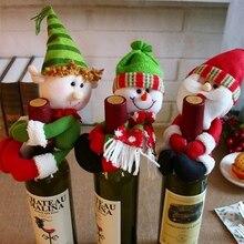Christmas decorations Santa snowman holding bottle sets medium bottle home decoration    FK1
