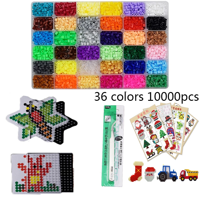 48 цветов в коробке, набор бусин Hama 5 мм, самодельные игрушки, Гладильные бусины 5 мм, Развивающие детские игрушки «сделай сам», плавкие бусины,...