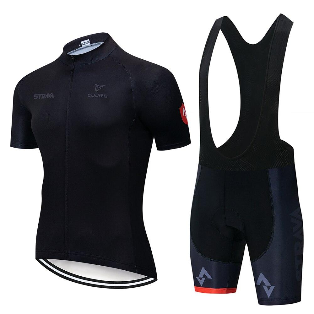2020 nueva camiseta de Ciclismo de verano STRAVA, Jersey transpirable para equipo de carreras deporte, ropa de ciclismo para hombres, Jersey de bicicleta corta