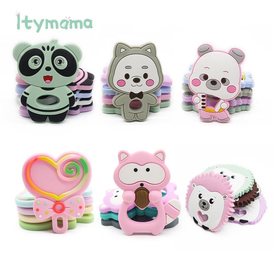 Low Price Clearance!Baby Silicone Teether Baby Teething Toys Cartoon Animal Shape Baby Teething Te