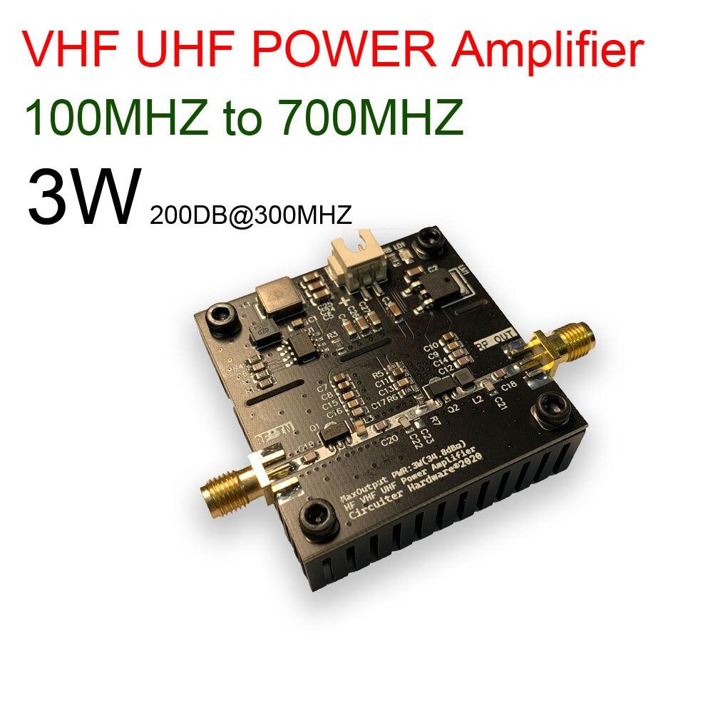 100mhz ~ 700mhz 3w hf vhf uhf fm transmissor de banda larga rf amplificador de potência para rádio ham walkie talkie onda curta