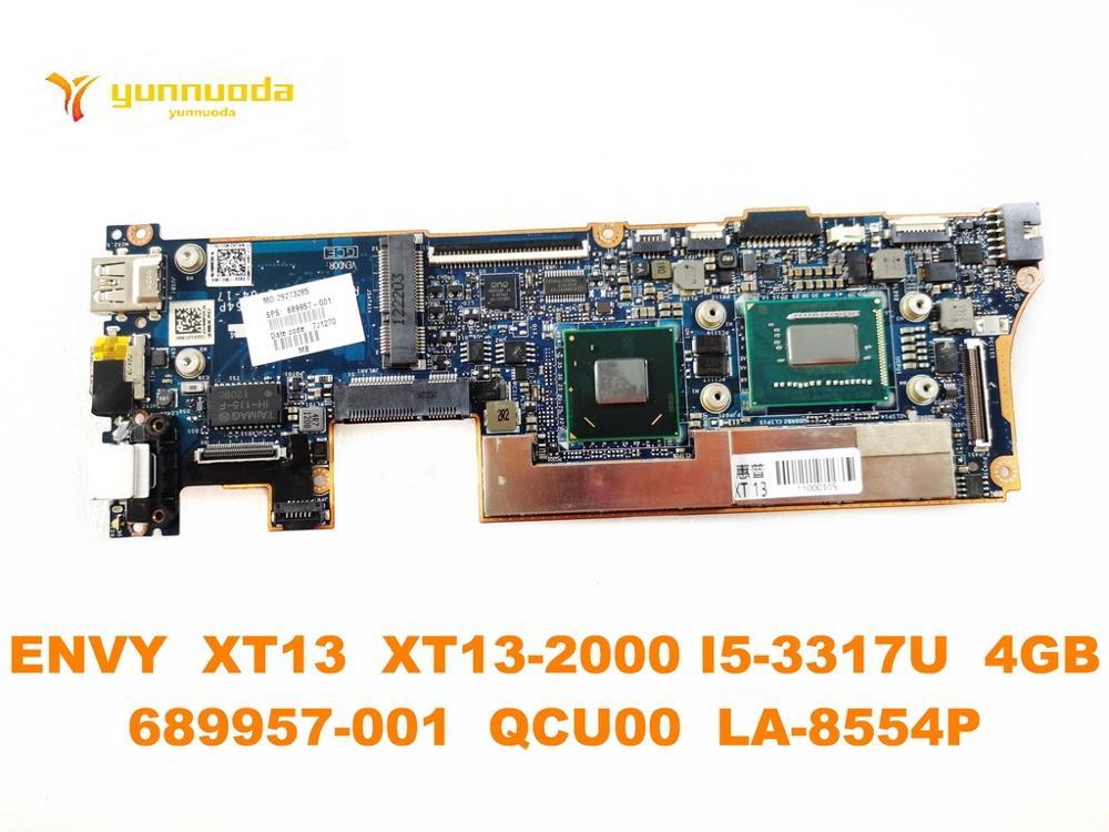 الأصلي ل HP الحسد XT13 XT13-2000 اللوحة المحمول الحسد XT13 XT13-2000 I5-3317U 4GB 689957-001 QCU00 LA-8554P اختبار