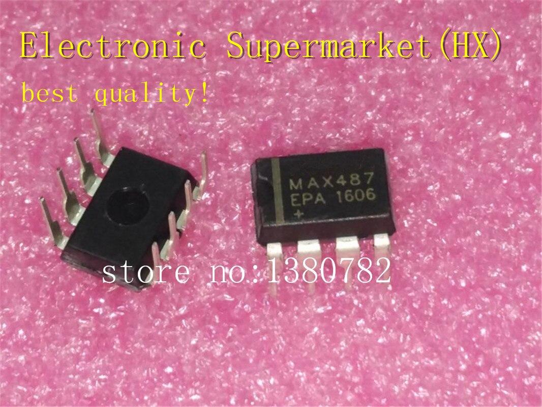 شحن مجاني 100 قطعة/السلع MAX487EPA MAX487 DIP-8 جديد الأصلي IC في الأسهم!