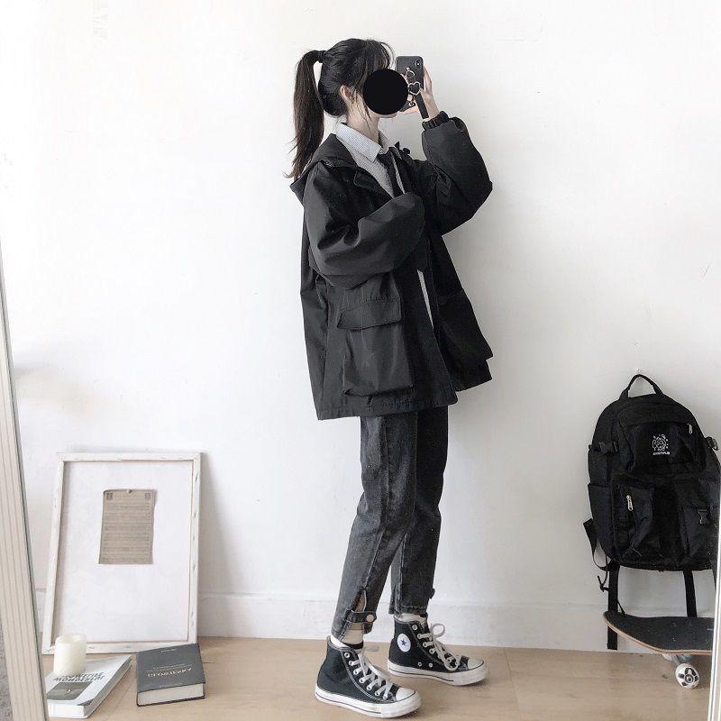 2020 ropa de invierno ropa de las mujeres Harajuku Hip hop abrigo...