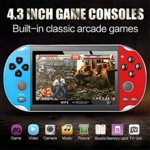 Portable rétro classique Console de jeu Portable garçon nostalgique 800 intégré 4.3 pouces TFT écran jeux pour enfant nostalgique joueur