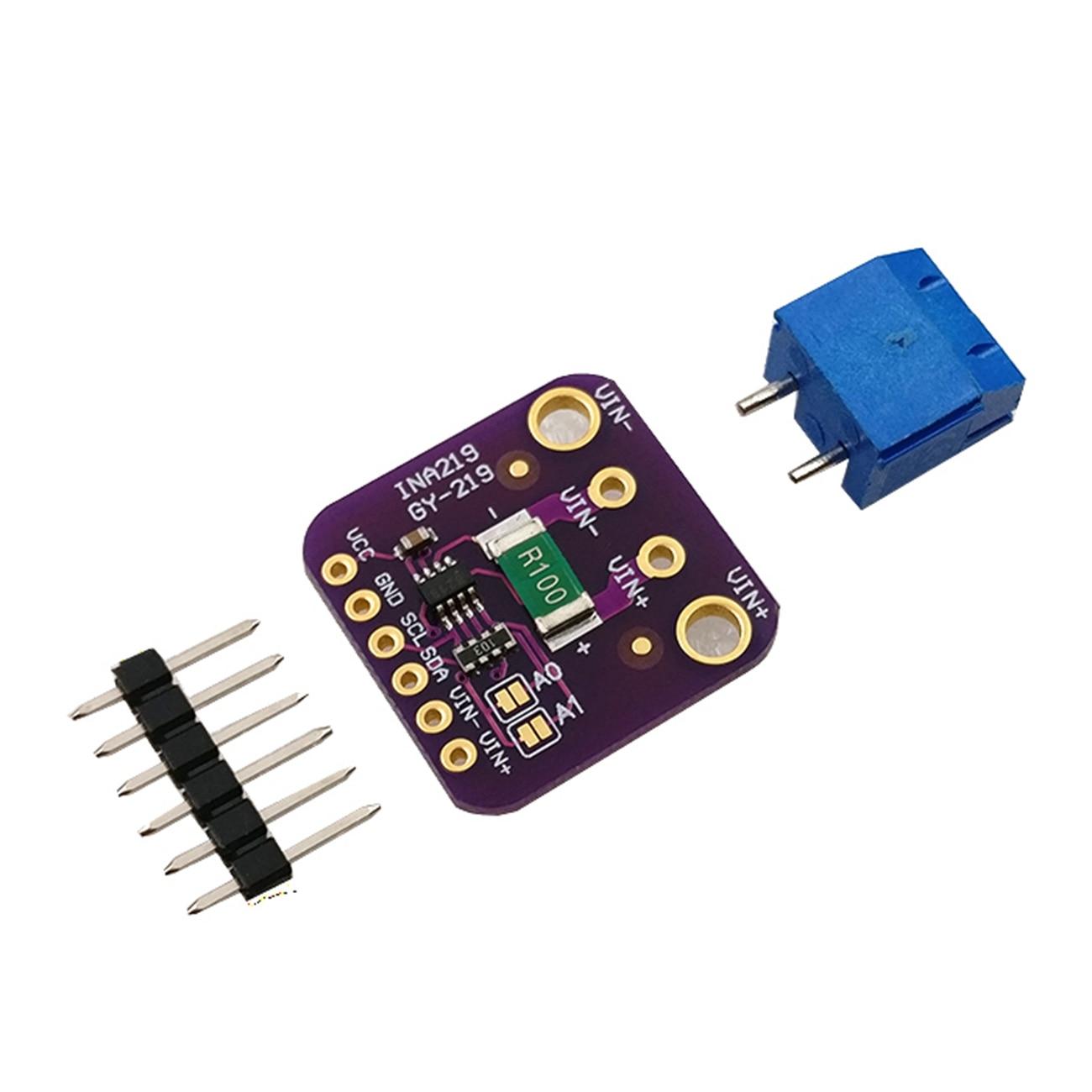 10 pces GY-INA219 GY-219 módulo de sensor de corrente digital de alta precisão