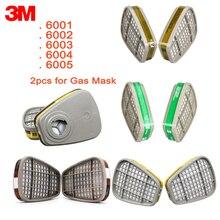 3M kartuş filtre 6001/6002/6003/6004/6006 kimyasal sprey boya filtre kartuşu asit gaz For6200/7502/6800 maskesi