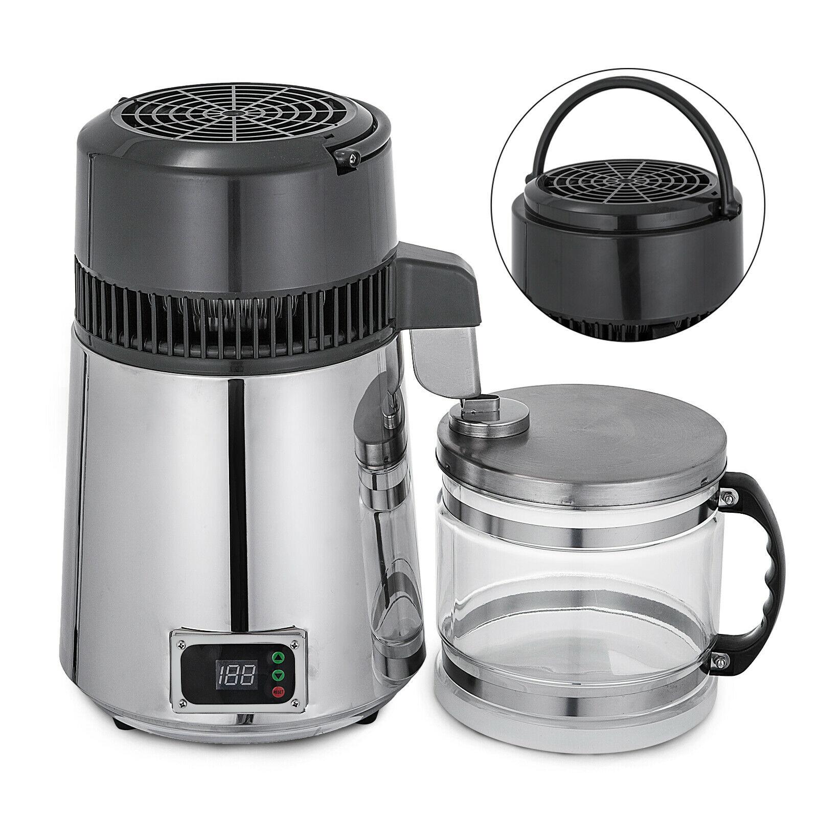 4L المنزلية المياه النقية المقطر درجة الحرارة التي تسيطر عليها الكحول التقطير معدات تنقية الفولاذ المقاوم للصدأ الزجاج جرة
