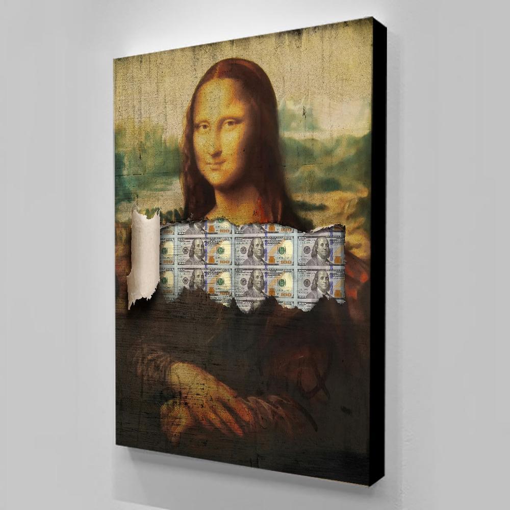 Pintura en lienzo de obra maestra del mundo, arte de pared HD,...