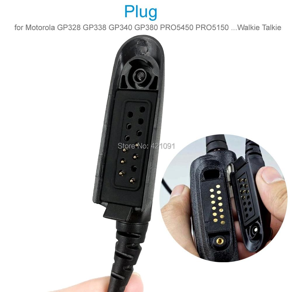 Air Acoustic Tube Earpiece Headset Mic for Motorola GP328 GP338 GP340 GP380 PRO5450 PRO5150 Walkie Talkie Two Way Radio enlarge