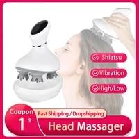 smart head scalp massager usb charging wireless head massage device stress relax body back massager for prevent hair loss