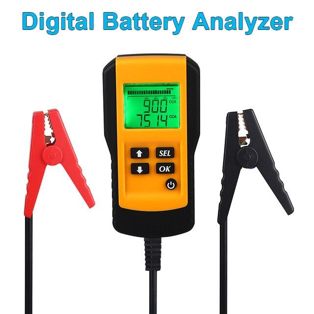 Тестер аккумулятора для автомобиля, цифровой диагностический прибор для проверки нагрузки аккумуляторов, 12 В, CCA