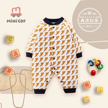 New born baby's one-piece Romper baby's cotton jacket in autumn and winter