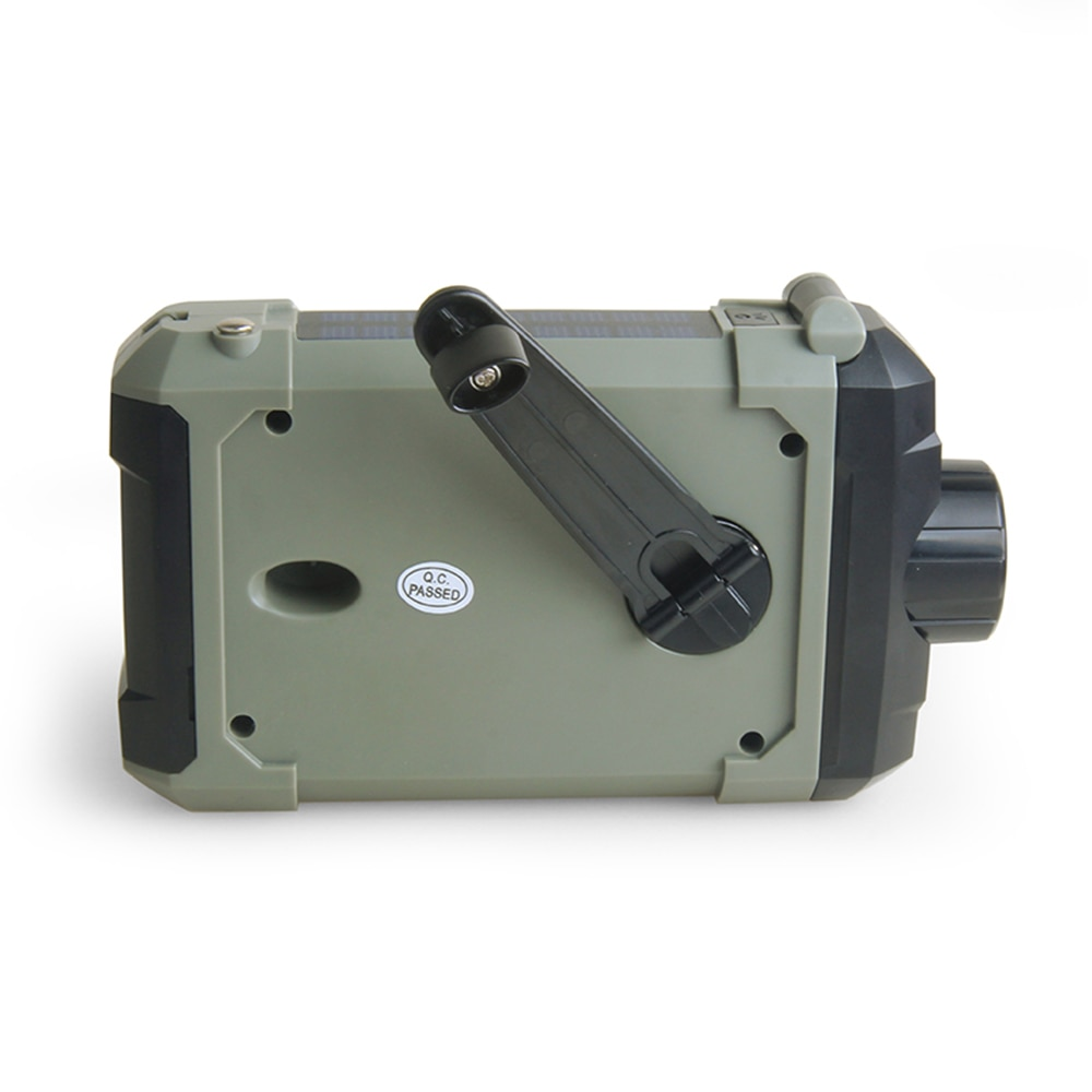 Portable Radio Hand Crank Emergency Reading Lamp Flashlight Solar Charging 2000mAh enlarge