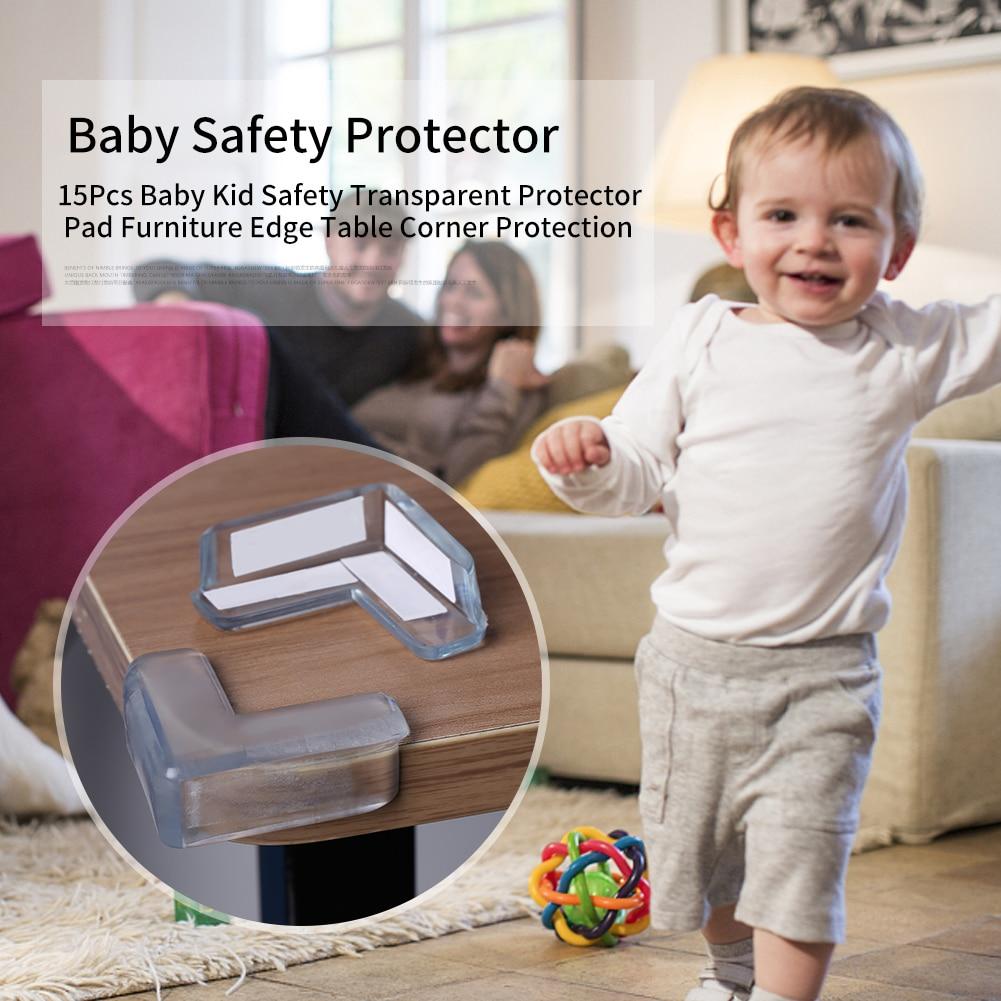 15Pcs/set Baby Transparent Safety L Shape Protector Cover Table Corner Guards Children Protection Furnitures Edge Corner Guards