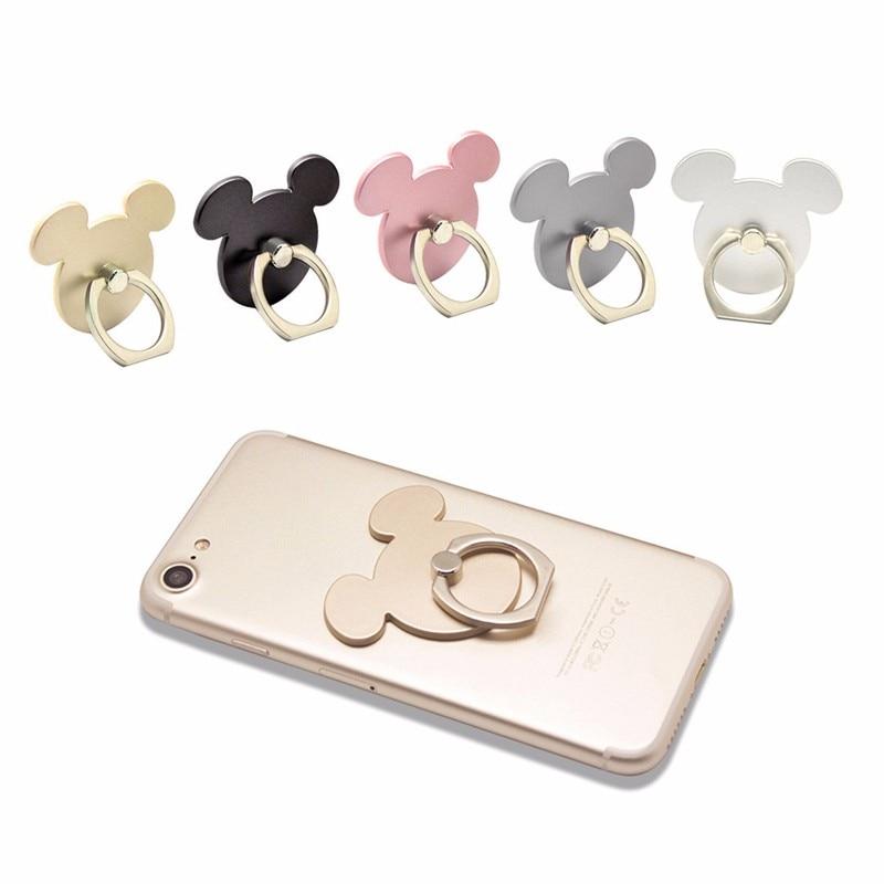 Anillo Para dedo con forma de ratón de 360 grados, soporte para teléfono móvil, soporte para iPhone 11/11 pro para xiaomi socket para todos los teléfonos inteligentes 50 Uds.