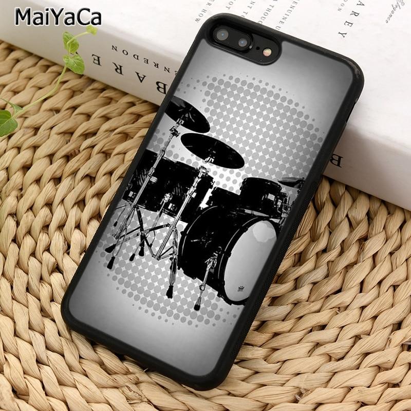MaiYaCa черный и белый набор барабанов для iPhone X XR XS 11 Pro MAX 5 6 7 8 Plus Samsung Galaxy S5 S6 S7 S8 S9 S10