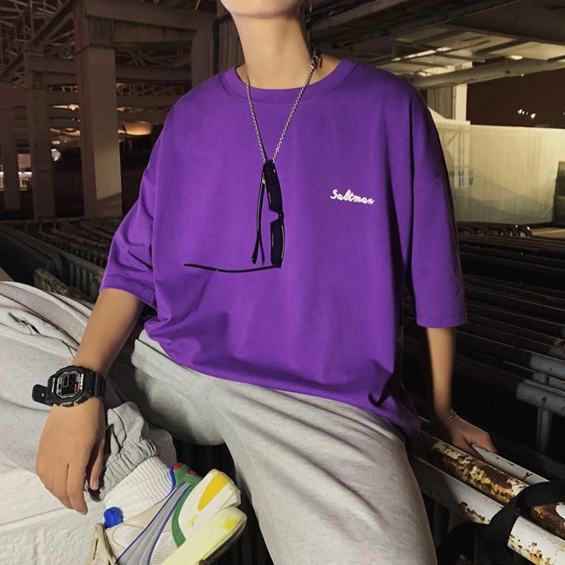 T-shirts Men Short Sleeve Simple All-match Summer Soft Breathable T-shirt Mens Large Size Korean Style Clothing Harajuku Tees