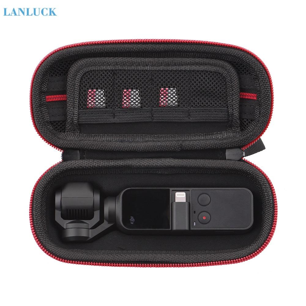 Impermeable, portátil, de cuero PU para exteriores, bolso individual para bolsillo DJI Osmo, Mini bolsa de almacenamiento de viaje, cardán de mano, accesorios