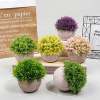 hot selling combination of semi spherical pulp bonsai simulation plant potted desktop green plant ornaments bonsai home decore
