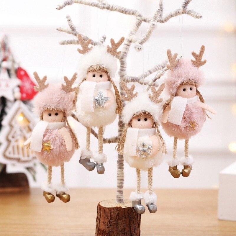 Рождественская Кукла-Ангел для домашнего декора Рождественские украшения для дома Рождественская елка кулон на новый год с утолщённой мех...