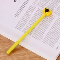 1pc retro camera stationery black gel pen office sign pen writing gel pens washable handle for school office stationery supplies