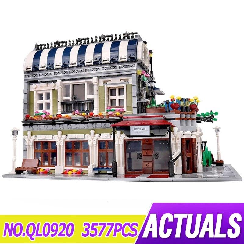 QL0920 جديد شارع المدينة الخالق عرض متوافق lepinblock 15010 مطعم MOC وحدات اللبنات الطوب لعبة الهدايا