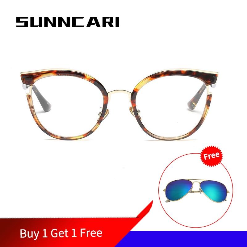 Diseñador De moda De gafas De ojo De gato Mujer óptica, gafas para miopía marco cuadrado claro computadora Monturas De gafas Lentes Mujer