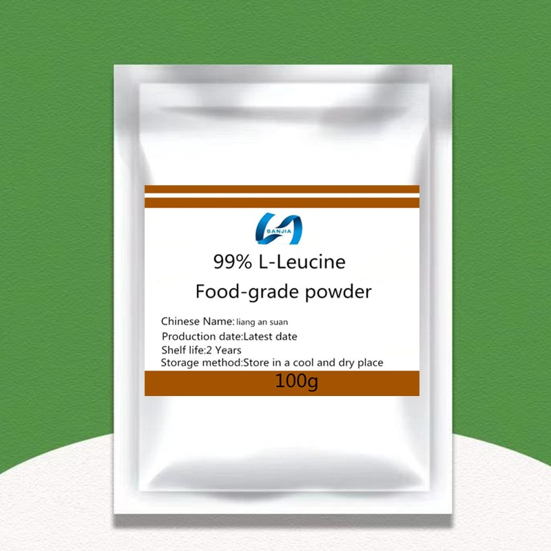 Hot selling food grade L-leucine powder, 99% L-leucine powder, energy-enhancing amino acid, nutritional supplement