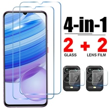 4in1 Tempered Glass for Redmi Note 10 9 8 Pro 9T 9S 10S 8T Camera Screen Protector for Xiaomi Redmi 9 9C NFC 9T 9A 8 8A Glass