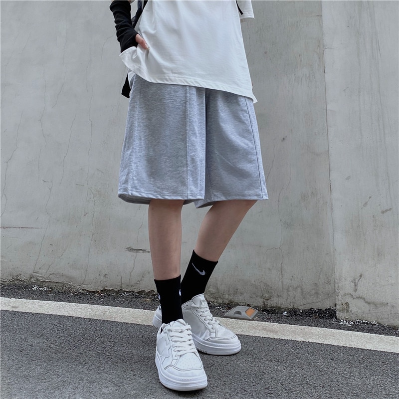 Casual Pants Men's and Women's Summer Trendy Ins Japanese-Style Retro Loose Straight Pants Sports Sh