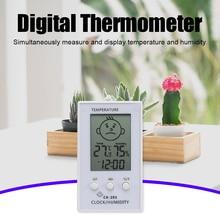 3 en 1 horloge numérique intérieure hygrothermographe maison humididomètre jauge de température hygromètre thermomètre 96x57x13mm